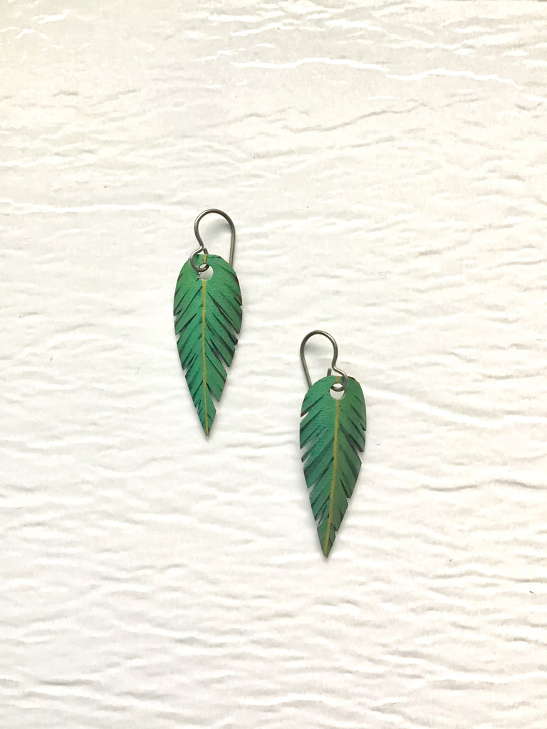 "Small ""Feather"" Earrings"