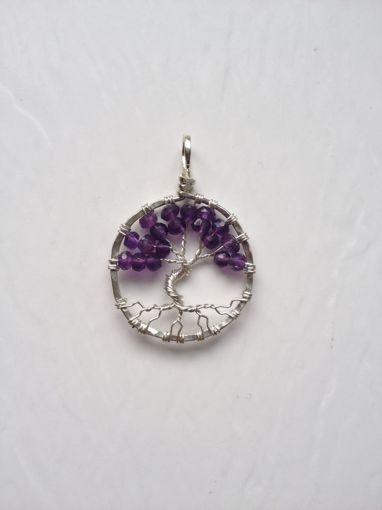 Amethyst with Sterling Silver Tree