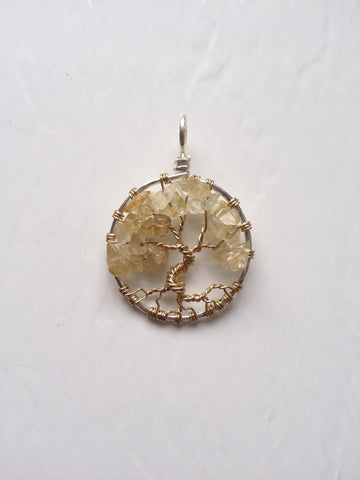 Citrine with Gold Tree