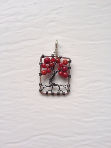 Coral with Gunmetal Tree