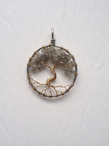 Labradorite with Gold Tree