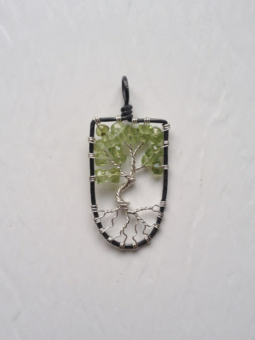 Peridot with Sterling Silver Tree