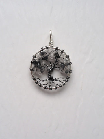 Tourmalated Quartz with Gunmetal Tree