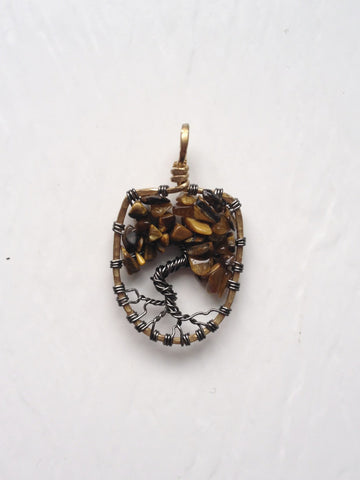 Tigers Eye with Gunmetal Tree
