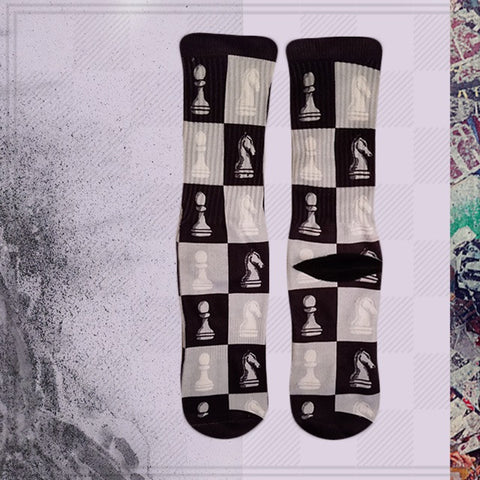 chess_game_socks_fun_dress_socks