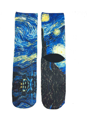 Starry Night Art Socks - Novelty Socks