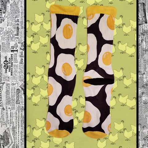 egg pattern socks funny dress socks food socks