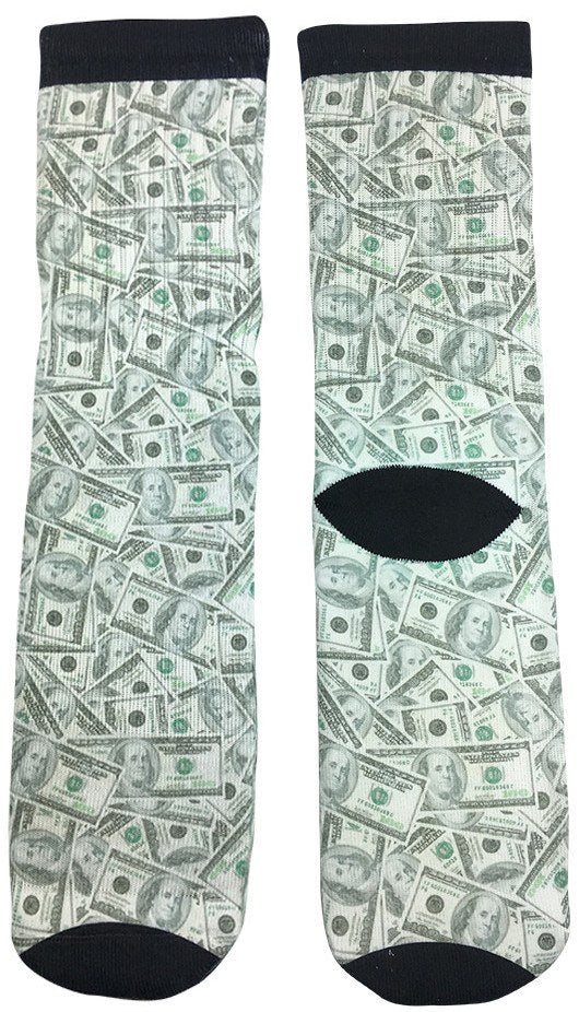 Crazy Cool Cash Money Socks for Men & Women