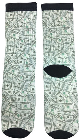 Cash Money Business Socks - Fun Crazy Cool Novelty Socks - Swaggy Socks