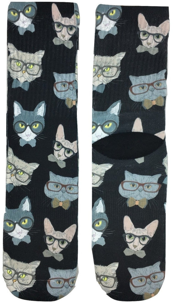 Professor Cat Socks - Fun Crazy Cool Novelty Socks - Swaggy Socks