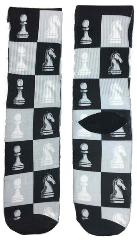Chess Game Socks - Fun Crazy Cool Novelty Socks - Swaggy Socks