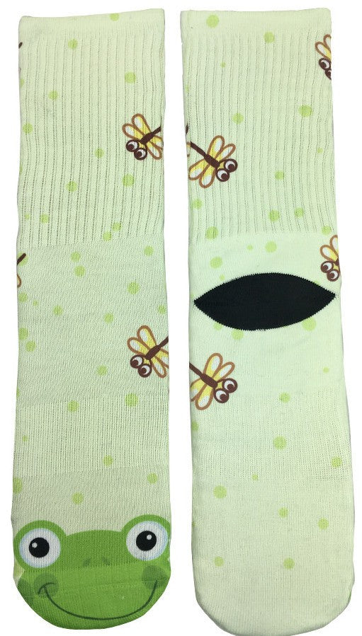 Womens Froggy Socks - Fun Crazy Cool Novelty Socks - Swaggy Socks