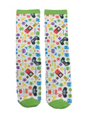 Retro Video Game Socks - Fun Crazy Cool Novelty Socks - Swaggy Socks