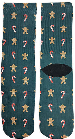 Gingerbread Christmas Socks - Fun Crazy Cool Novelty Socks - Swaggy Socks