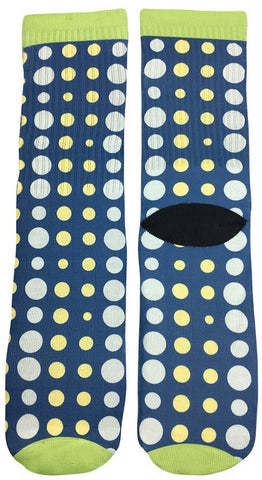Big and Small Polka Dot Design Socks - Fun Crazy Cool Novelty Socks - Swaggy Socks