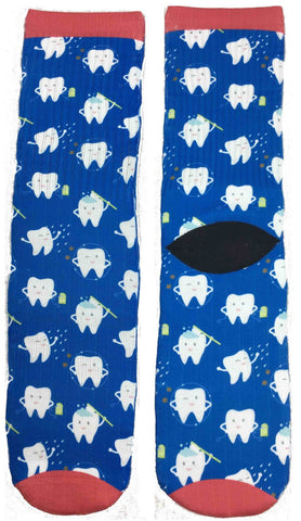 Happy Teeth Socks - Fun Crazy Cool Novelty Socks - Swaggy Socks