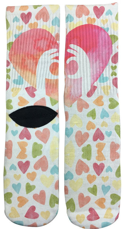 Valentines Heart Socks - Fun Crazy Cool Novelty Socks - Swaggy Socks