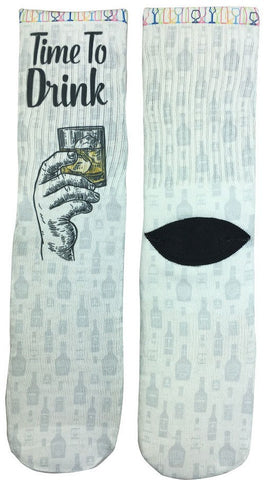 Drink Up Socks! - Fun Crazy Cool Novelty Socks - Swaggy Socks