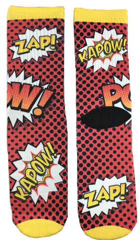 Comic Book KA-POW Sound Effect Socks
