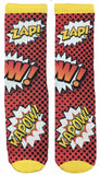 Comic Book KA-POW Socks - Fun Crazy Cool Novelty Socks - Swaggy Socks