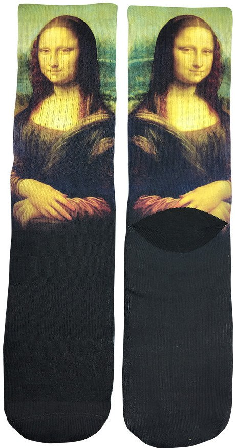 Mona Lisa Art Socks - Fun Crazy Cool Novelty Socks - Swaggy Socks