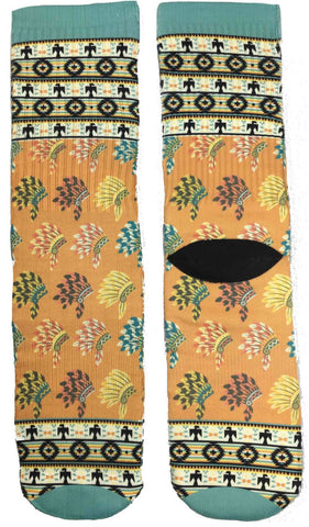 Native Tribal Socks - Fun Crazy Cool Novelty Socks - Swaggy Socks