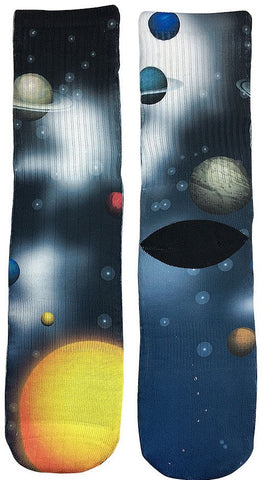 Planets Socks - Fun Crazy Cool Novelty Socks - Swaggy Socks