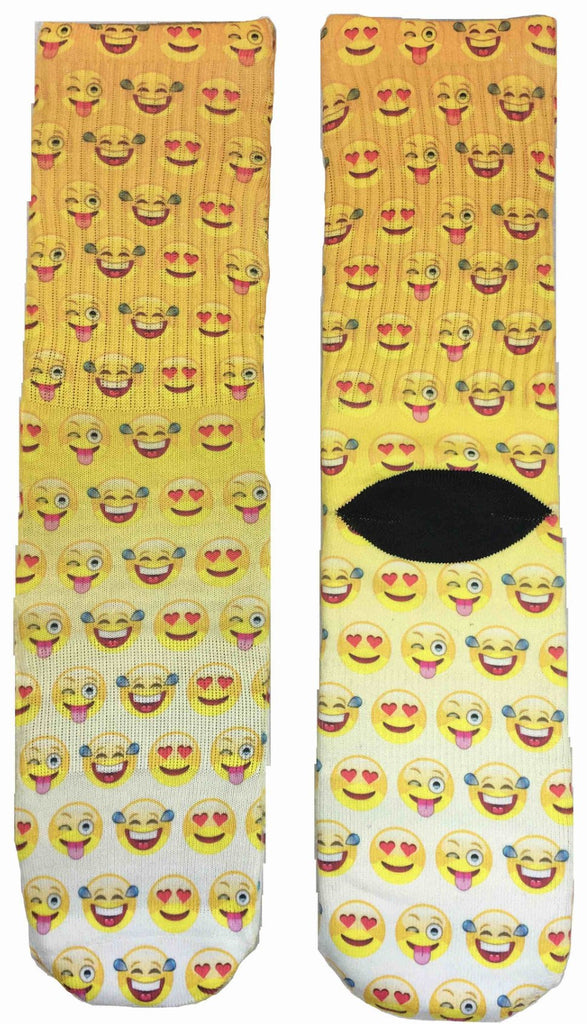 Smiley Emoji Socks - Fun Crazy Cool Novelty Socks - Swaggy Socks