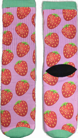 Novelty Strawberry Socks for Women