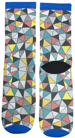 Triangular Design Socks - Fun Crazy Cool Novelty Socks - Swaggy Socks