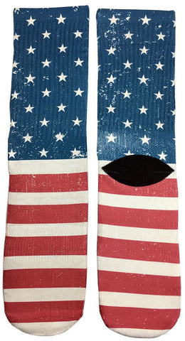 Novelty American Flag Socks - Fun Crazy Cool Novelty Socks - Swaggy Socks