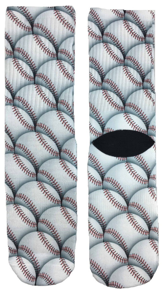 Baseball Design Socks - Fun Crazy Cool Novelty Socks - Swaggy Socks
