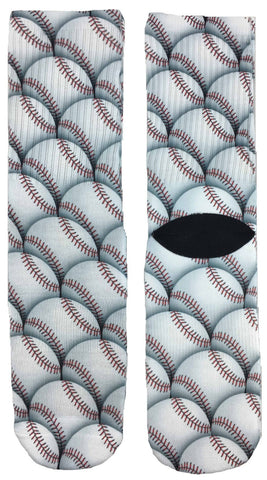 Baseball Pattern Socks
