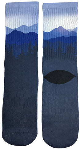 Night Mountain Socks - Fun Crazy Cool Novelty Socks - Swaggy Socks