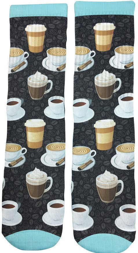 Morning Coffee Socks - Fun Crazy Cool Novelty Socks - Swaggy Socks