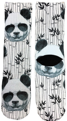 Cool Panda Socks - Fun Crazy Cool Novelty Socks - Swaggy Socks