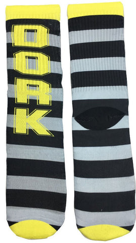 Striped Dork Socks - Fun Crazy Cool Novelty Socks - Swaggy Socks