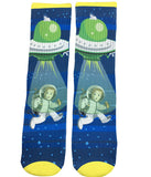 Alien UFO Invasion Socks - Fun Crazy Cool Novelty Socks - Swaggy Socks