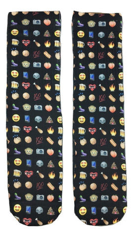 All Emoji's Socks - Fun Crazy Cool Novelty Socks - Swaggy Socks
