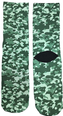 Army Green Camouflage Socks