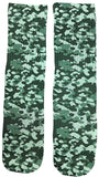 Army Green Camouflage Socks - Fun Crazy Cool Novelty Socks - Swaggy Socks