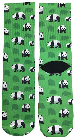 Green Panda Socks - Fun Crazy Cool Novelty Socks - Swaggy Socks