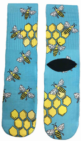 Honey Bee Socks - Fun Crazy Cool Novelty Socks - Swaggy Socks