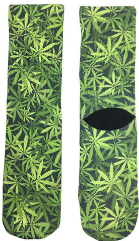 Weed Leaf Socks - Fun Crazy Cool Novelty Socks - Swaggy Socks