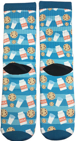 Milk & Cookies Socks - Fun Crazy Cool Novelty Socks - Swaggy Socks