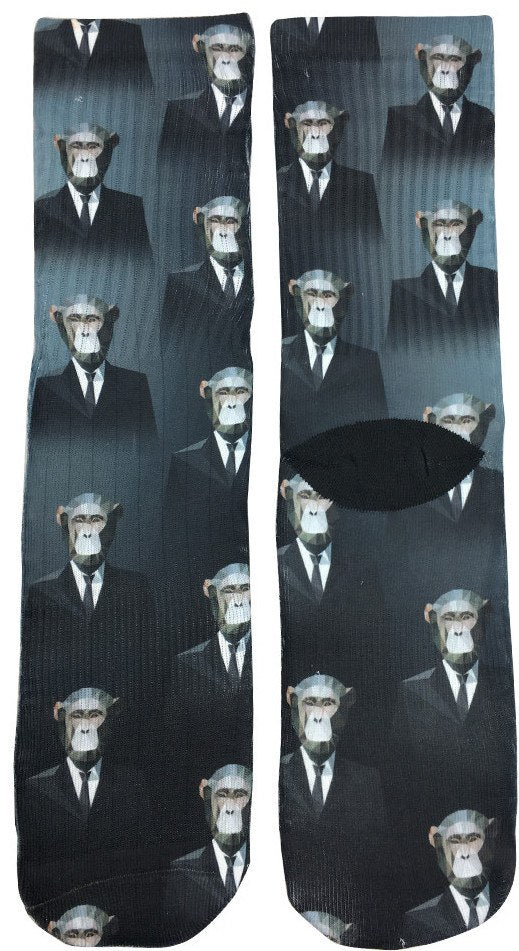 Monkeys in Suits Socks - Fun Crazy Cool Novelty Socks - Swaggy Socks