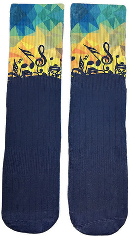 Musical Rhythm Socks - Fun Crazy Cool Novelty Socks - Swaggy Socks