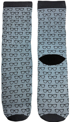 Geeky Glasses Socks - Fun Crazy Cool Novelty Socks - Swaggy Socks