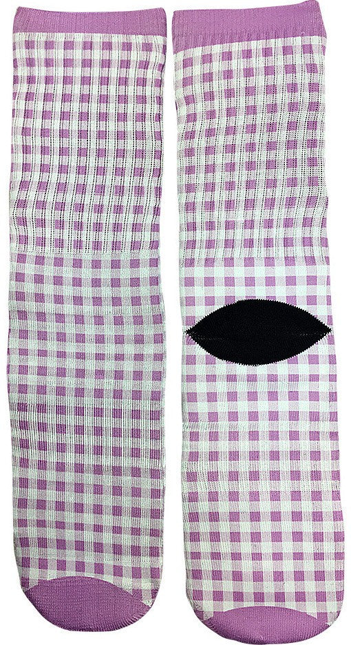 Checkered Picnic Pattern Socks - Fun Crazy Cool Novelty Socks - Swaggy Socks