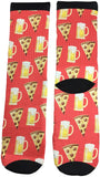 Pizza n Beer Socks - Fun Crazy Cool Novelty Socks - Swaggy Socks